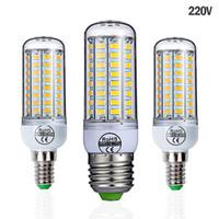 E27 LED 램프 220V LED 전구 SMD 5730 E14 LED 라이트 24 36 48 56 69 72 옥수수의 LED 전구 샹들리에 홈 조명