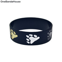 1PC Black 1 Inch Wide Bear Pride Silicone Rubber Wristband T...