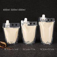 Yeni Sıcak Kabarcık Çay Stand-up Plastik İçecek Ambalaj Çantası İçecek Sıvı Suyu Süt Kahve Için Borulu Kılıfı