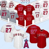 Engel 27 Mike Trout Jerseys Los Angeles # 17 Shohei Ohtani 150. Patch-Baseball-Shirts für Herren genähtes TOP 27 Mike Trout 17 Shohei Ohtani