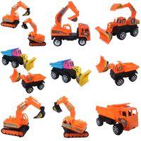 Инерциальный мультфильм инженерные игрушки для автомобилей Детский бульдозер Вилочный погрузчик Экскаватор Самосвал Грузовик Трактор Открытый пляжный автомобиль для детей