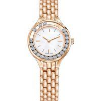 도매 2019 여성 시계 아름다움 숙녀 시계 석영 시계 스테인레스 스틸은 금 팔찌 손목 시계 브랜드 여성 인기 하락 선을 로즈
