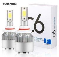 1 par de H1 H3 H3 H3 H7 H8 / H11 9007 9006 9004 9005 8000k Coche LED Bombilla Bombilla C6 Automóviles LED Faro Lámpara de niebla para auto