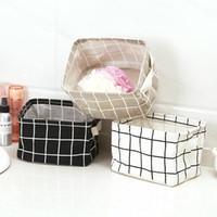 Faltbare Sundries Vorratsbehälter Closet Toy Box Behälter-Organisator Gewebetuch Lagerung Waschtisch Kosmetik Schreibtisch Korb Taschen FFA3734-1