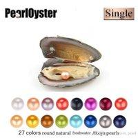2020 Nuovo prodotto unico grande intorno alle perle 6-7mm perla naturale di Gioielli ostriche d'acqua dolce Oyster Shell fai da te per le donne festa a sorpresa