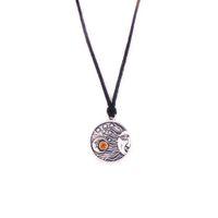 HS08 شكل القمر الكلاسيكي مع تصميم نجمة جنازة جرة الدينية قلادة حبل قلادة المجوهرات