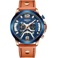 NIBOSI 2020 럭셔리 브랜드 남성 아날로그 가죽 스포츠 시계 남성 육군 시계 남성 날짜 석영 시계 Relogio Masculino