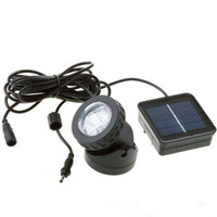 6 LED 방수 수중 태양 광 스포트 라이트 야외 정원 잔디 램프 수영장 수중 조명