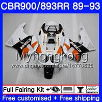 Corpo estoque branco novo Para HONDA CBR 893RR 900RR CBR900RR CBR893RR 89 90 91 92 93 253HM.4 CBR900 CBR893 RR 1989 1990 1991 1992 1993 Carenagens