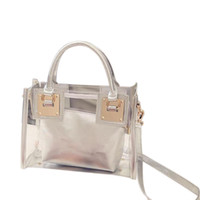 FGGS- Women Clear Transparent Shoulder Bag Jelly Candy Summer...