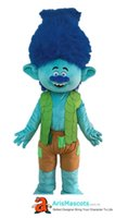 Adult Size Cute Blue Trolls Character Branch Mascot Costume ...