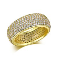 mens ring hip hop jewelry Zircon iced out stainless steel ri...