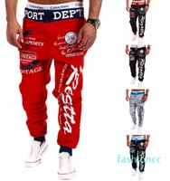 Men New Fashion Design Street Pants Full Length Letter Print Spring Style Big Plus Size Cool Designer Pant 5 Colors M -3xl