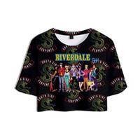 Camiseta de la impresión 3D informal Riverdale Verano Tops Ropa de Mujer 2018 Harajuku Tops de Hip Hop de manga corta más el tamaño
