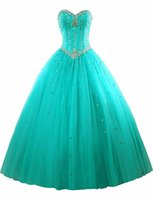 2019 Fashion Sweetheart Crystal Ball Gown Quinceanera Dresse...