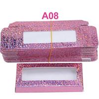 El cartón de papel caja de embalaje para 25mm de pestañas a granel barato al por mayor Bastante Embalaje Pestañas de almacenamiento