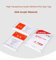 100pcs 152 * 102mm Supporto da parete 6mm Spessore acrilico magnetico Supporto per cartellino Prezzo Carta Etichetta per etichette Etichetta Controsoffitto Stand