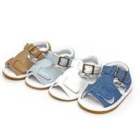Baby Girl Summer Bébé Garçons Filles Chaussures en caoutchouc Soles PU cuir Sandales Chaussures bébé nouveau-né sandales de plage