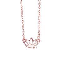 Collane di loto all'ingrosso gioielli fatti a mano a buon mercato semplice fiore conciso collana regalo per le donne collana pendente yoga