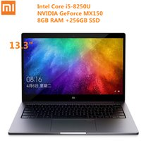 Xiaomi Air Laptop 13.3 pouces Win10 Intel Core i5-8250U Quad Core 1.6GHz 8GB RAM 256GB SSD Reconnaissance d'empreintes digitales Dual WiFi BT4.1