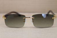 Toptan-Sıcak 8200757 Erkekler Yeni Stil Gözlükler Siyah Çerçevesiz Güneş Çerçeve Boyutu içindeki hakiki Doğal Buffalo boynuz Beyaz: 56-18-140mm