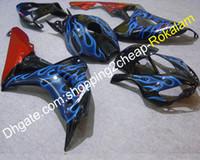 Blue Flame Code Coapling Kit для Honda 2006 2007 CBR1000RR 06 07 CBR1000 CBR 1000RR Красный черный мотоцикл Полное обтекательство (литье под давлением)