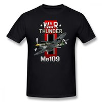 Luftwaffe T Shirt War Thunder Me109 T- shirt Plus Size Basic ...
