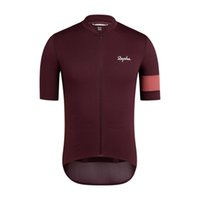 Verano transpirable Rapha Team Mens Cycling Jersey Manga corta Maillot Road Racing Tops Quick Dry MTB Bike Shirts Uniforme de bicicletas Ropa Ciclismo S21040217