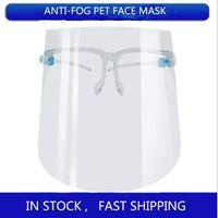 DHL شحن مجاني PET واقية الوجه درع كامل الوجه عزل قناع شفاف مكافحة الضباب قناع قناع واقية للوجه شيلدز FY8038