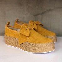 Dihope 2020 Весна Женщины Квартиры обувь Платформа кроссовки скользят по Flats кожа замша женские Мокасины Мокасины Повседневная обувь
