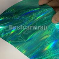Nane yeşil Gökkuşağı Neo Krom holografik Vinil Wrap Ile araba wrap Hava kabarcığı Ücretsiz araba hologram çıkartmalar kapsayan 1.52x20 m / Rulo