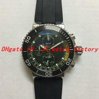 Montre chaude série de plongée pour hommes 01 774 7708 4154-Set Sports bande de caoutchouc Quartz multi-fonction chronographe montre