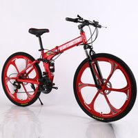 26 بوصة للطي الدراجة الجبلية 21 سرعة مزدوجة قرص الفرامل دراجة 6 عجلة سكين و 3 سكين عجلة الدراجة الجبلية