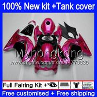 + Tank voor Kawasaki EX-250 ZX250R 2008 2009 2010 2011 2012 Pearl Rose 201MY.60 EX250 ZX 250R EX 250 ZX-250R EX250R 08 09 10 11 12 Kuip