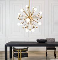 Lustre de pissenlit créatif postmoderne éclairage led lumières nordique style industriel moderne simple penthouse villa salon éclairage