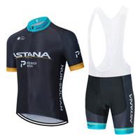 Велоспорт Джерси набор 2020 Pro КОМАНДА Астана задействуя одежда Летняя дышащая MTB джерси велосипед нагрудник шорты комплект Ropa Ciclismo