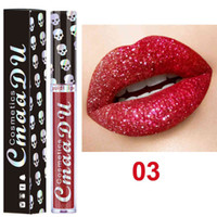 CmaaDu Skull Style Shimmer Shining Lip Gloss Long Wear Moist...