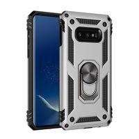 Para Samsung Nota 10 Pro 9 A10 A30 A40 A50 A70 M10 M20 S8 S9 S10 E Plus TPU dura do PC Com Kickstand Anel queda absorção de choque capa protetora