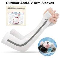 Protección UV manga del brazo del Deporte de Pesca Biblioteca Campo sin dedos del brazo Ice Cool de secado rápido Ciclismo Baloncesto Manguito mangas