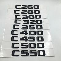 Mercedes Benz C Class C36 C55 C63 C160 C180 C200 C220 C230 C250 Arka Amblem Siyah Logo Mektupları İçin