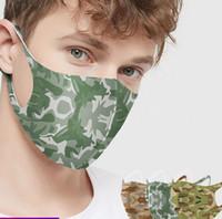 Camuflagem Boca Máscara Facial de algodão reutilizável lavável Unisex Partido adulto Facemask Boca mascarar 4 cores LJJK2231