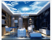 Custom 3D large zenith mural photo wallpaper HD huge blue sk...