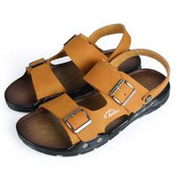Summer sandals men casual brand comfortable leather beach sa...