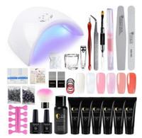 Manicure Set Estendere Builder Kit Nail Art Kit del chiodo della barretta di estensione UV acrilico del gel del costruttore LED di chiodo di cristallo Jelly Lamp