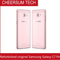 Оптовая восстановленное Оригинал Samsung Галактики С7 про C7010 5,7-дюймовый Окта основные 4Gb оперативной памяти 64 Гб ROM Двухсимочниках 16МП 3300 мАч и 4G LTE разблокирована