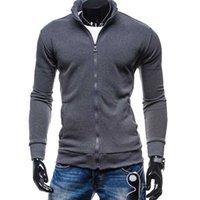 Erkekler Hoodies Fermuar Tasarım Erkek Ceket Coat Boyun Yüksek Kalite Erkek Sonbahar Kazak Marka-Giyim Kapüşonlular erkekleri 2017 Yeni Standı
