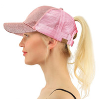 Hot New Glitter Baseballmütze Sommer Dad Kappen für Frauen 2018 Hysteresen Hip Hop Caps Messy Paillette Glanz Mesh Trucker Hat