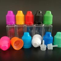 10ML زجاجة فارغة على شكل مربع 3000PCS PET البلاستيك القطارة E زجاجات السائل ل E- السائل E- عصير فيديكس UPS الحرة