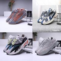 2019 Nueva alta calidad 700 Runner Kanye West Mauve Wave Hombres Mujeres zapatos casuales 700s Zapatillas deportivas para correr Zapatillas de diseñador