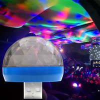 USB بقيادة الفطر ضوء مصغرة بقيادة ضوء للمنازل حزب السيارات الأطراف تغيير اللون الموسيقى